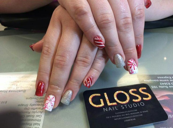 Winter Nails  By Angie Heinemann  Gloss Nails:  Schedule an appointment today  (208)887-8548