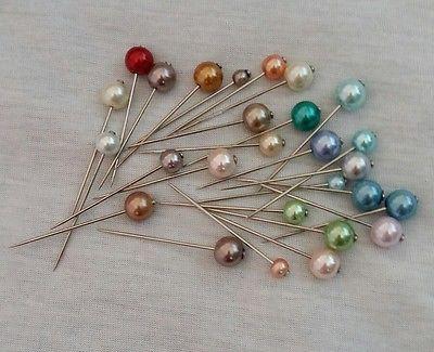 27Pcs 5Cm Long Pearl Hijab Pin Set❤