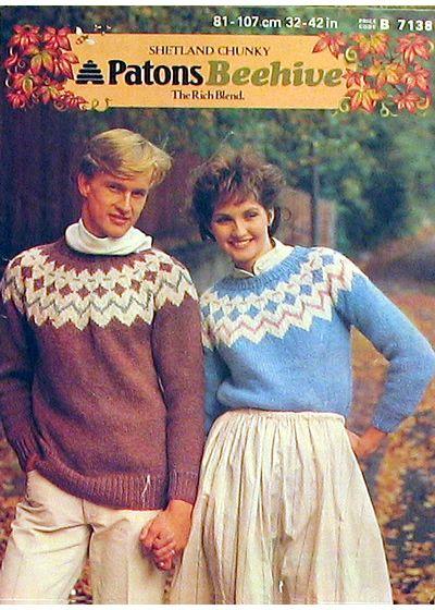 fair isle yoke sweaters