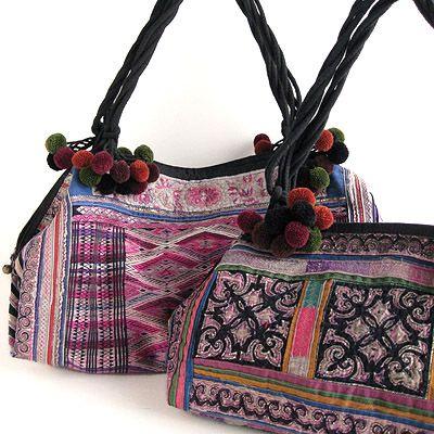 モン族コレクションバッグ(ミャオ) - アジアン衣料・アジアン雑貨のRisi e bisi(リジェビジ)