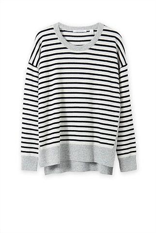 Blocked Stripe Knit