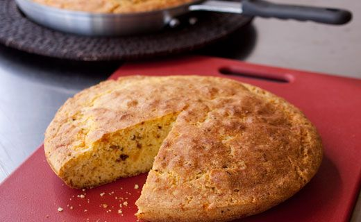 Chili Cornbread. An easy way to infuse homemade cornbread with flavour - perfect for dunking in Chili. Leftovers can be cubed and toasted for amazing croutons.