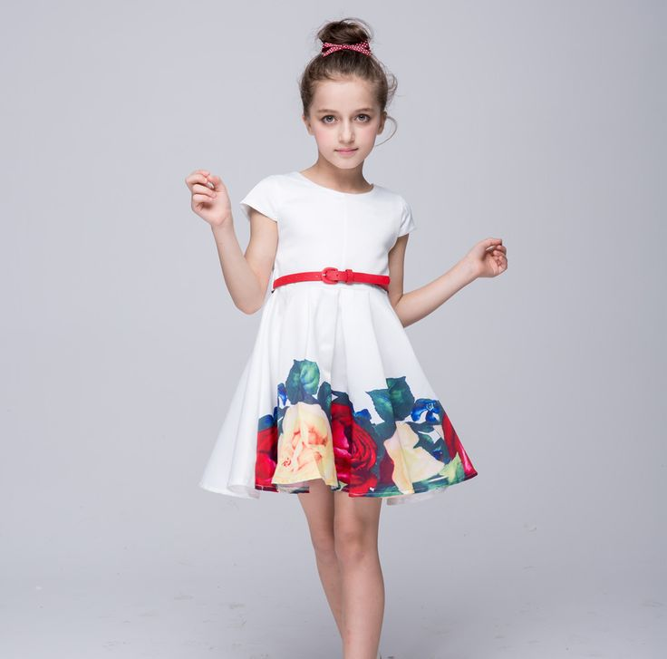 >> Click to Buy << Baby Girl Princess Dress 3-7T Kids short Sleeve Summer Dresses for Toddler Girl Children Fashion Clothing Party Dancing dress #Affiliate