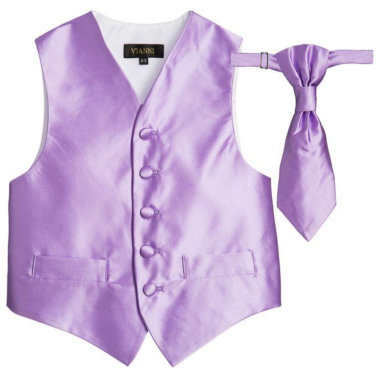 Romano Vianni - Boys Purple Waistcoat & Adjustable Tie Set | Childrensalon