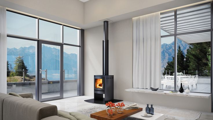 The Black Beauty of Wood Fires. Bosca Spirit 550 fireplace in a stunning black finish. Also available in stainless steel.