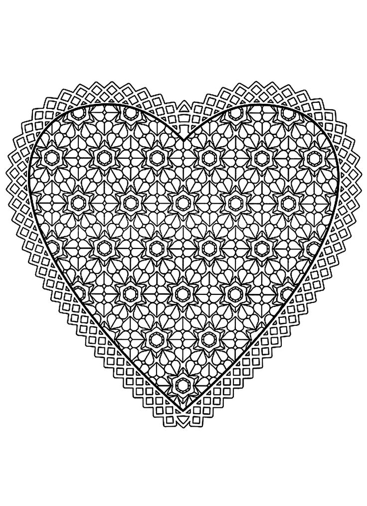121 best Coloring Heart Shapes images on Pinterest Adult