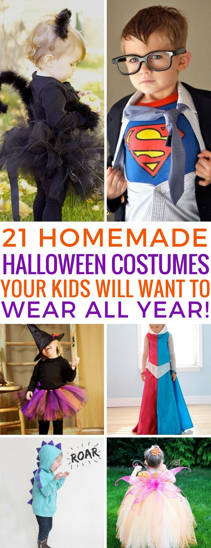 So cute! Love these homemade Halloween costumes ideas for the kids! Thanks for sharing!