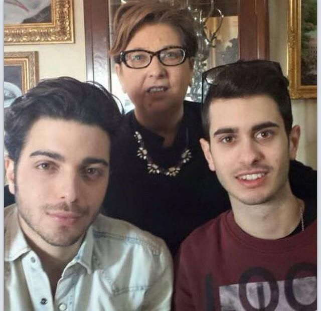 Gianluca with his Aunt Rosana and cousin Nick!!