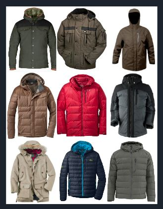 Men's Down Insulated Outerwear