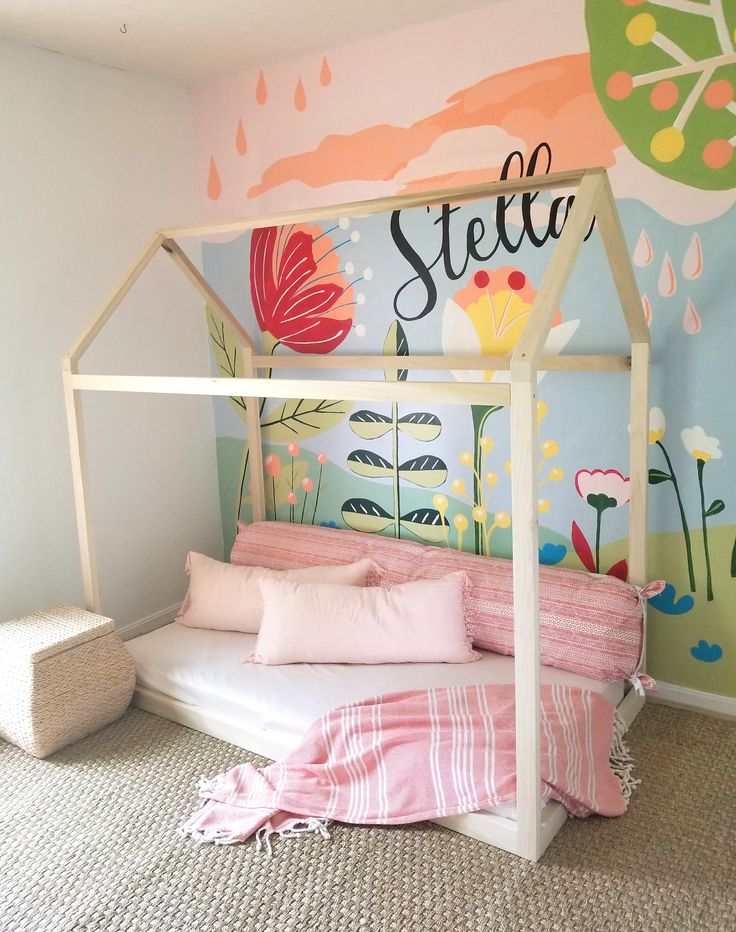 Built in USA House Bed TWIN, Kids House Frame Bed