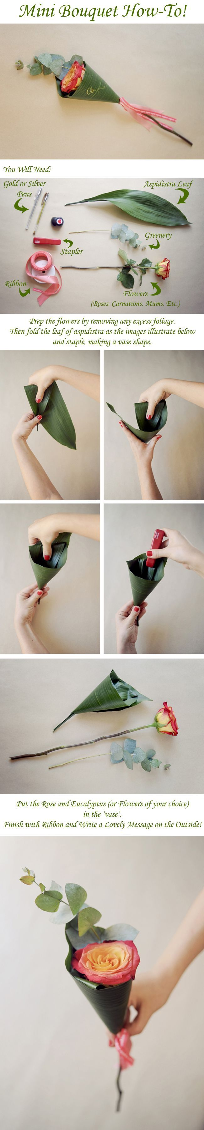 Mini Bouquet How-To – Found on Pepper and Buttons - Photos by: Piteira Photography