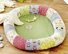 Baby-Spielkissen 'Regenwurm' Nähanleitung mit Schnittmuster #familienzimmer