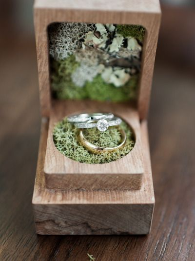 use the treasure chest and place moss inside of them to give them a more whimsical feel