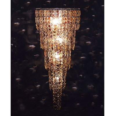 Stunning Chandelier - Constructed from Recycled Eyeglass Lenses