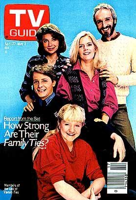 April 27 1985 - Michael J Fox, Meredith Baxter; Michael Gross; Justine Bateman & Tina Yothers [ Family Ties]