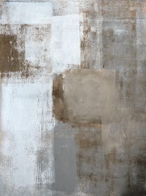 Calm and Neutral, 2013 - Original Acrylic Artwork Modern Contemporary Abstract Painting Wall Decor Free Shipping Grey Brown White 11x14