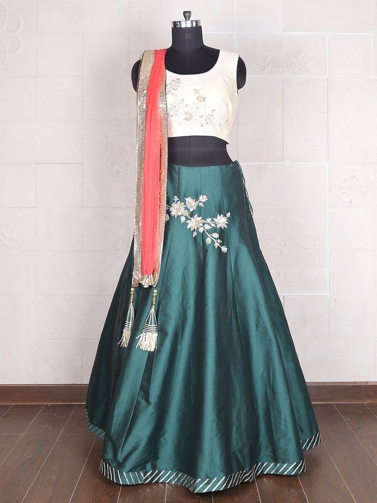 Green Cream Silk Lehenga Choli.  View more collection at g3fashion.com To buy or for Price Whatsapp +91-9913433322. #g3fashion #designer #lehenga #lehengacholi #fashionweek #bollywood  #bigfatindianwedding #weddingdairies #fashion #ethnicwear #ethnicwearonline #dress #bridal #salwarsuit #designerdress #saree #lehnga #girls #lovefashion #instagirl #instafashion #instaphoto #dressmaterial #navratri #festival