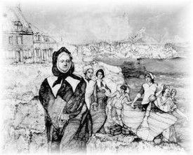 """Arrival of the Filles du Roi at the Maison Saint-Gabriel"" by David Mackie"