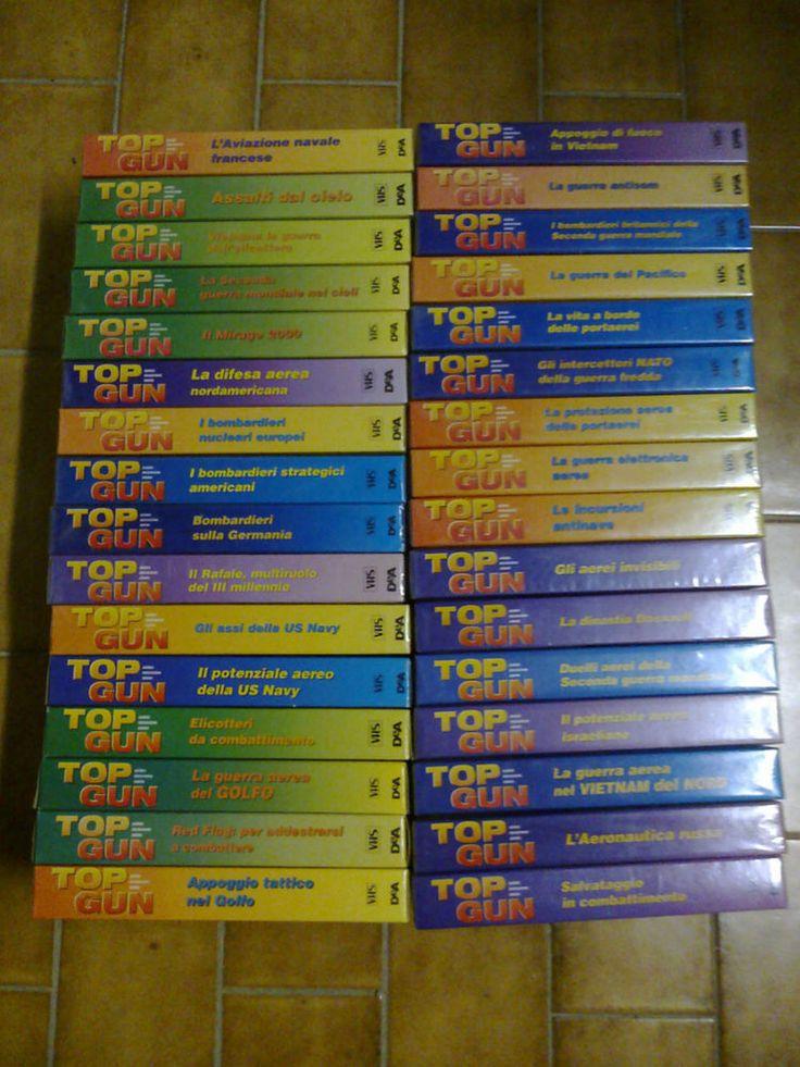 Videocassette collana TOP GUN 32 PEZZI VHS