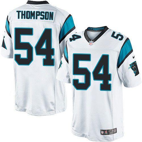 Nike Limited Shaq Thompson White Youth Jersey - Carolina Panthers #54 NFL Road