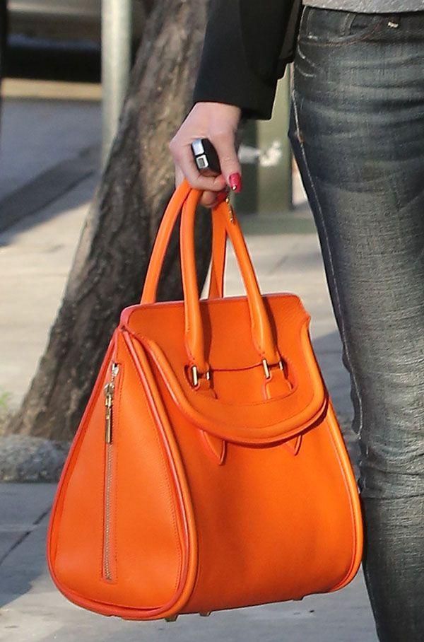 Gwen Stefani carrying an Alexander McQueen bag