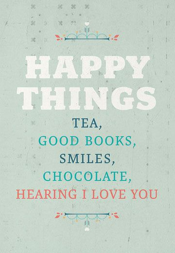 Happy Things Print. Oh man I love this.