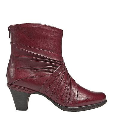 Another great find on #zulily! Red Shannon Leather Boot by Cobb Hill #zulilyfinds