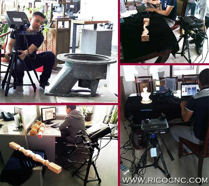 Industrielle Portable 3D Scanner Equipment to CNC Moulding Milling Machine