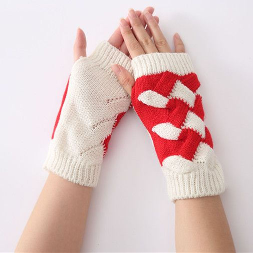 AliExpress.com Product - Gloves Autumn And Winter Season Format Mittens Color Female Knitted Semi Warm Arm Set