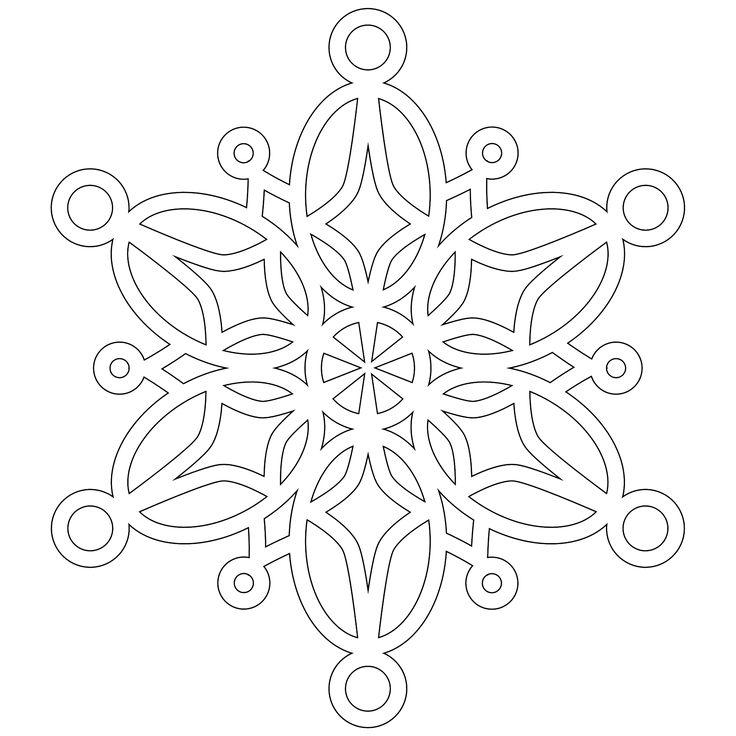 Snowflake Mandala Coloring Pages half dozen 8x8 inch