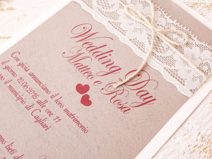 WEDDING INVITATION HANDMADE BY LOVE PAPER