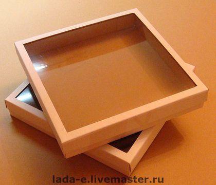 Подарочная упаковка ручной работы. Ярмарка Мастеров - ручная работа. Купить Коробка для упаковки из микрогофрокартона с окном. Handmade. Упаковка, коробка