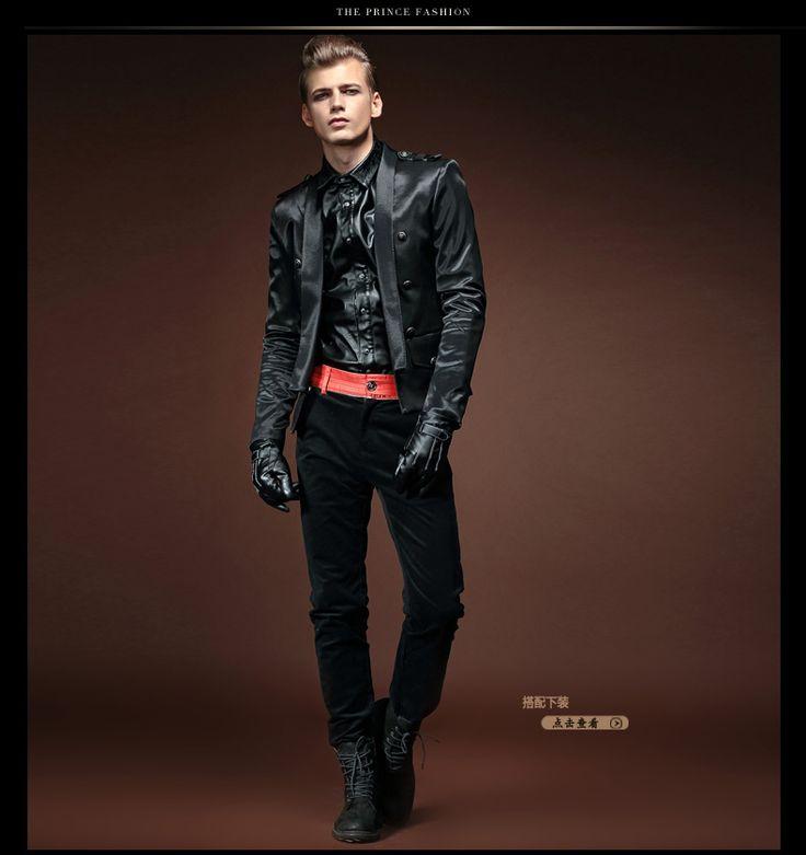凡轉潮牌大碼男裝原創設計歐美舞臺風男士秋裝短款夾克小西裝外套
