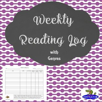 The 25+ best Weekly reading logs ideas on Pinterest Reading - reading log template