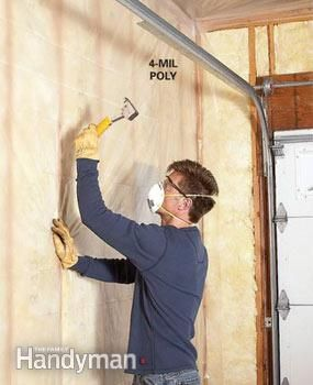 How to deal with a nasty, unfinished garage, step by step.