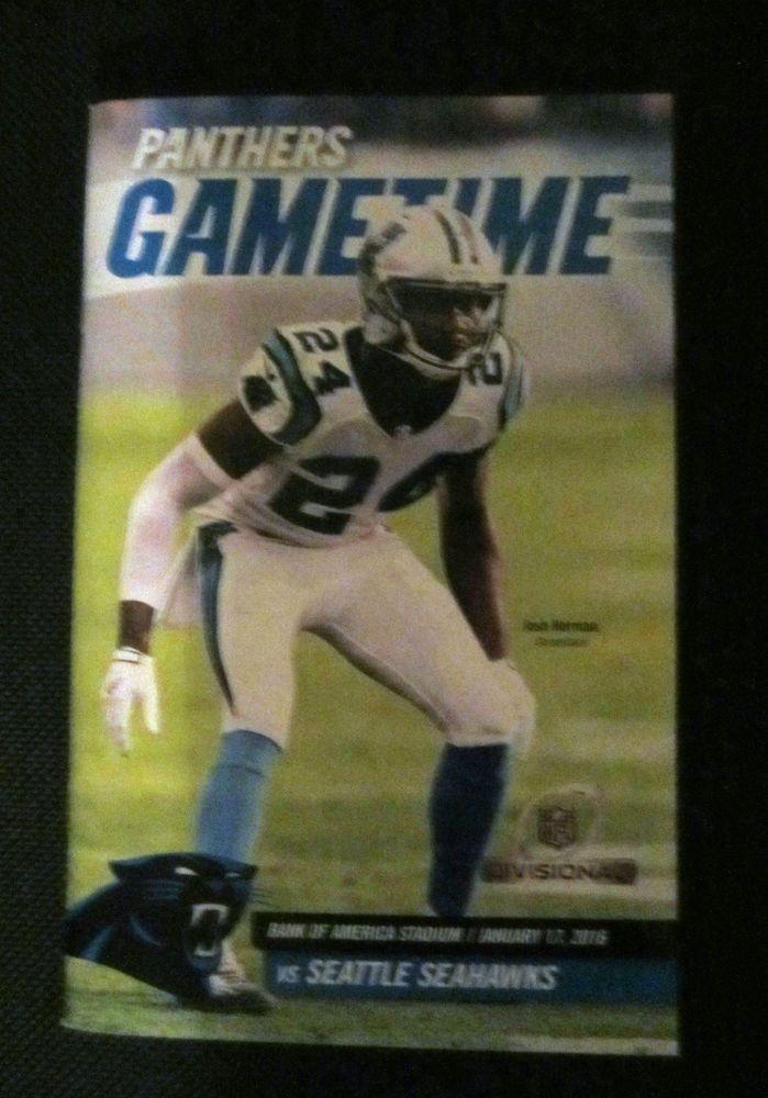 #NFL carolina panthers playoff program w/ josh norman 1/17/16 from $9.99
