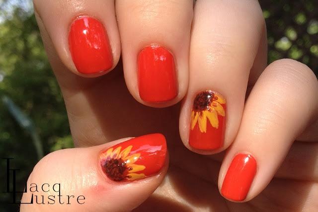 Lacqlustre: Sunflower Nail Art