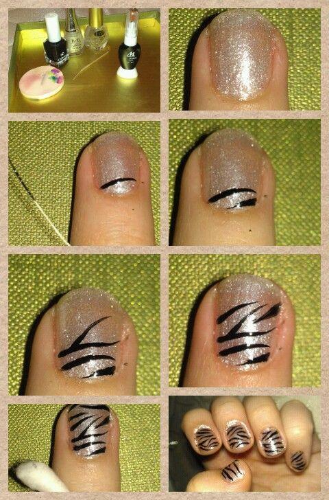 My Zebra nail art