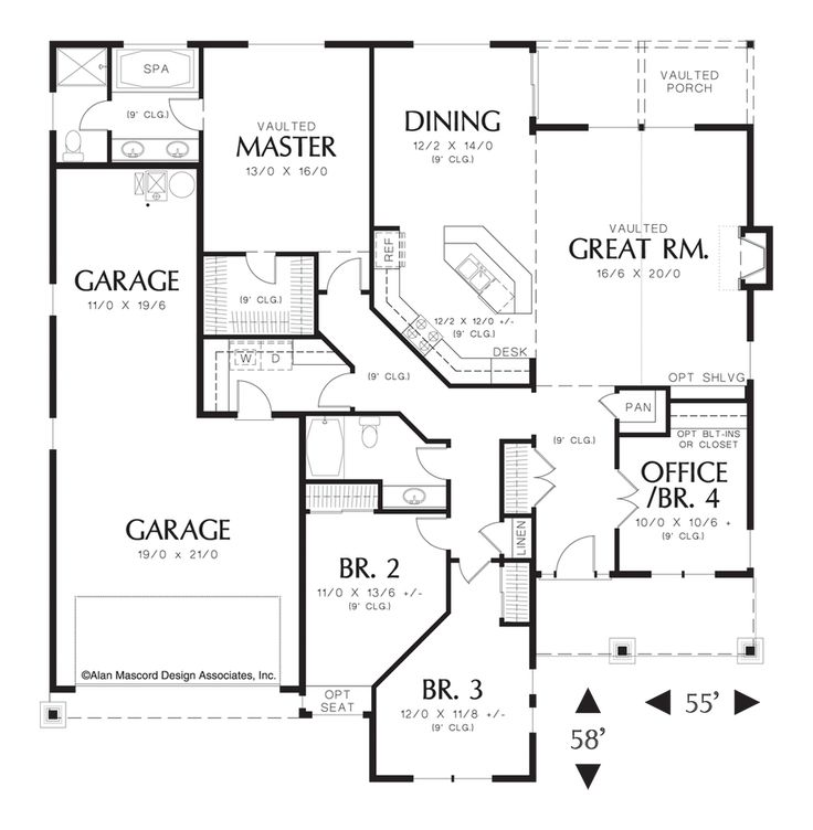 Best 25 ranch style floor plans ideas on pinterest for Great room floor plans single story