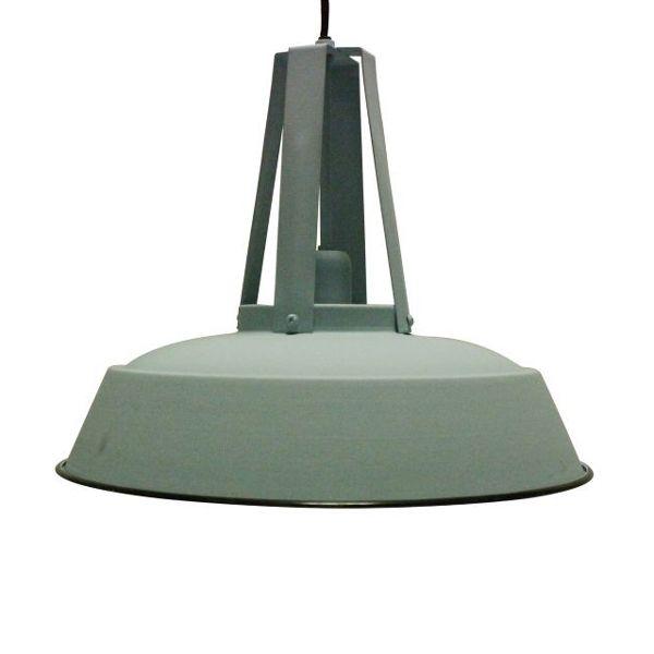Zacht Blauwe industriele hanglamp 42 cm- aanbieding 74,95