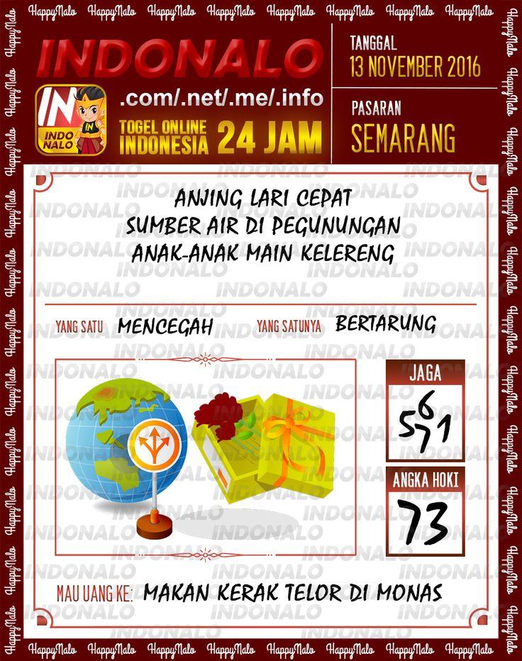 Angka Jaga 3D Togel Wap Online Live Draw 4D Indonalo Semarang 13 November 2016