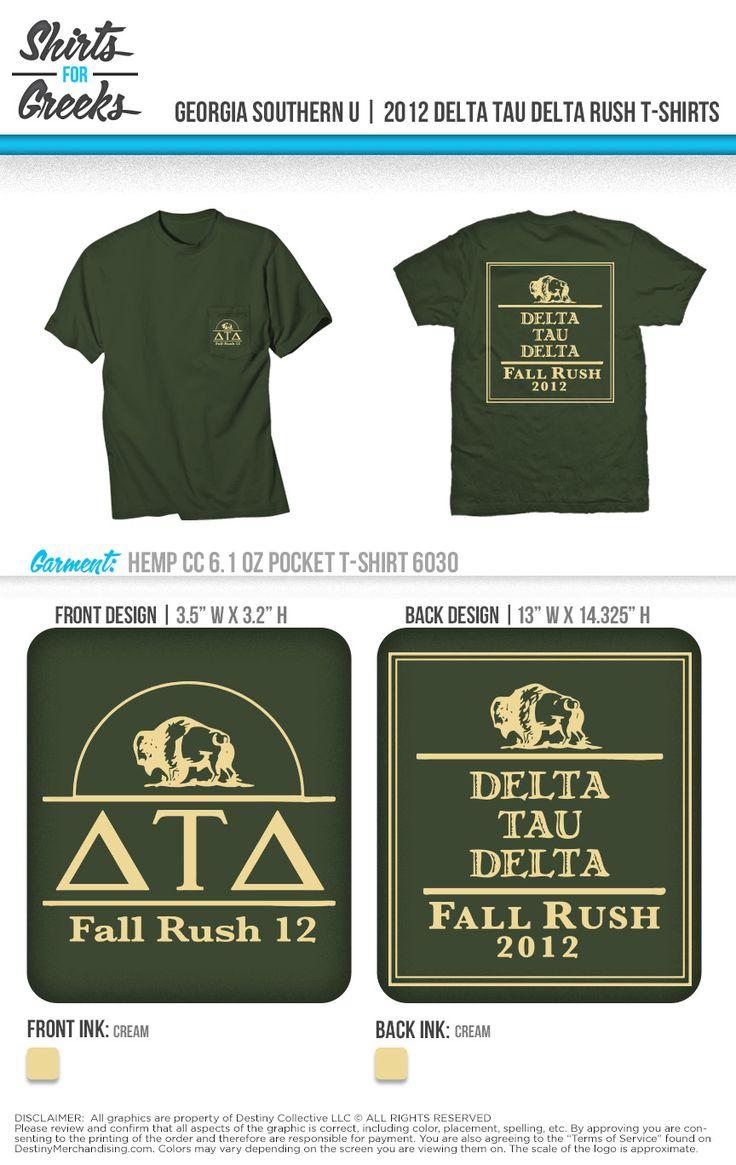 Georgia Southern Delta Tau Delta Fall Rush Shirts For