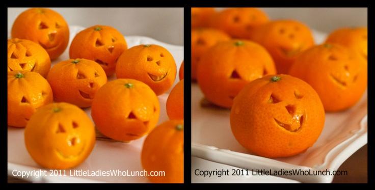 Tangerine jack-o-lanterns!