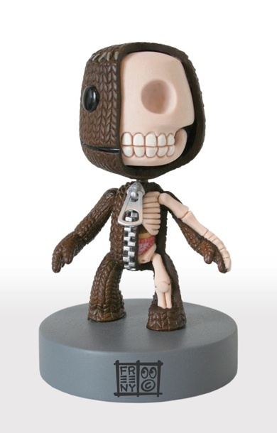 [#Sackboy unzipped #Anatomical Sculpture by Jason #Freeny