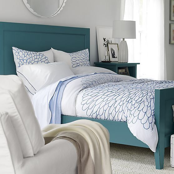 harbor blue bed crate and barrel luxury bedrooms