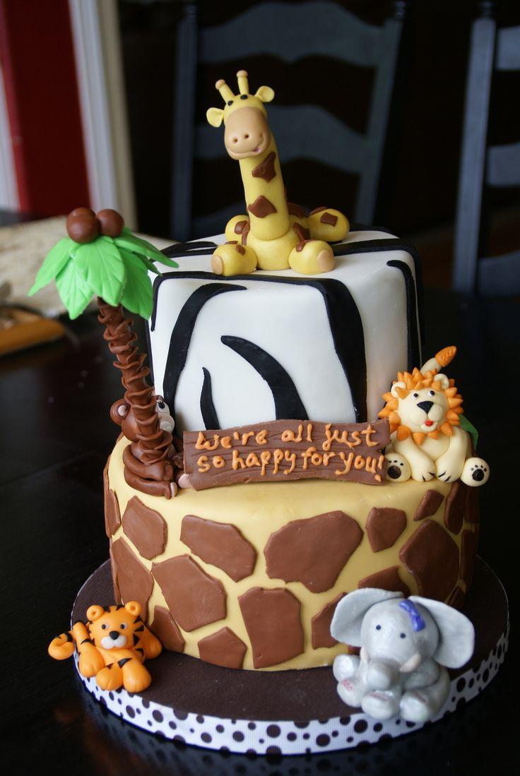 Safari Theme Cake Inspiration For My Baby Shower
