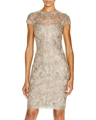 Tadashi Shoji Petites Embroidered Lace Dress | Bloomingdale's