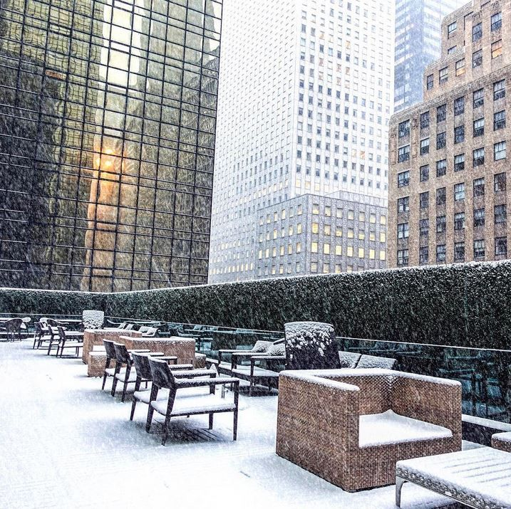 """""""Winter whites made a big appearance in New York this fashion week. Embracing every moment of the winter wonderland this week at Grand Hyatt New York's very own Grand Club."""" -- @melissackoh #LivingGrand"""