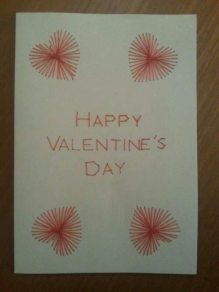 Valentine's Day pinbroidery card