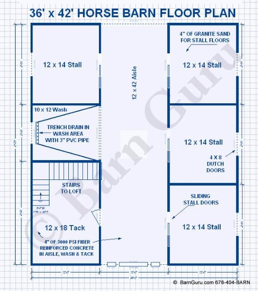 The exciting images below is part of horse barn floor for 10 stall horse barn floor plans